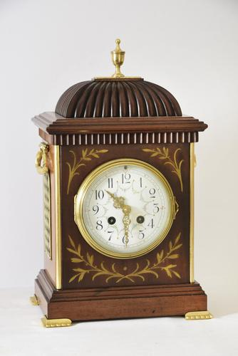 Brass Inlaid Mahogany Bracket Clock (1 of 5)