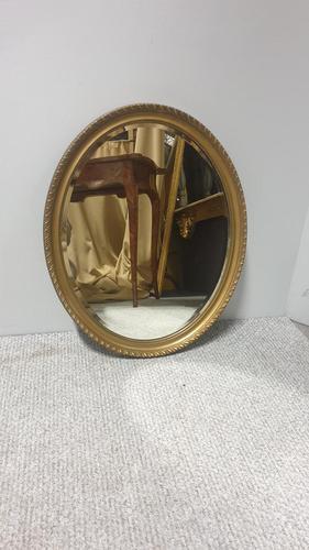 Edwardian  Oval Gilt Wall Mirror (1 of 5)