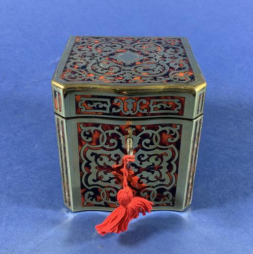Exquisite 19th Century French Boulle Tea Caddy (1 of 8)