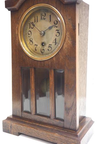 Antique German Mantel Clock Bevelled 4 Glass Mantle Clock by Hac (1 of 13)