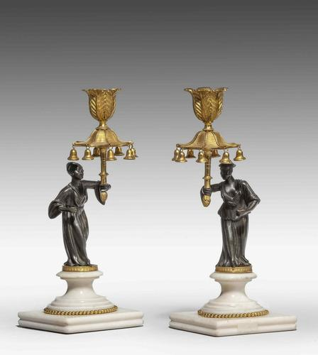 Pair of Regency Period Gilt Bronze Candlesticks (1 of 5)