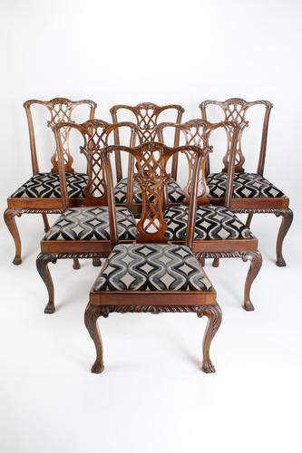 Set of 6 Antique Edwardian Mahogany Chippendale Chairs (1 of 15)