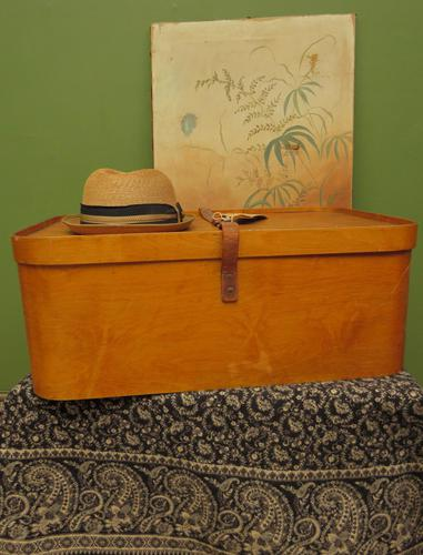 Antique Bentwood Plywood Storage Box by Luterma (1 of 16)