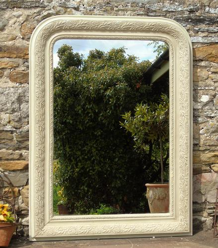 Antique Painted French Mirror (1 of 6)