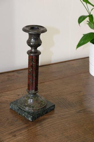 Rare Marble Candlestick with Two Different Marbles (1 of 4)