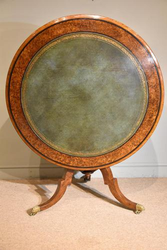 Regency  Library  Table / Centre Table Burr Yew (1 of 7)