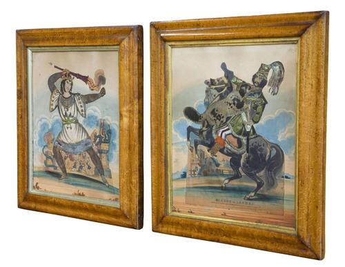 Pair of Victorian Theatrical Tinsel Prints (1 of 12)