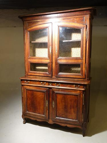 A Massive Mid 19th Century Provence Ash and Ash/Walnut Glazed Cupboard (1 of 4)