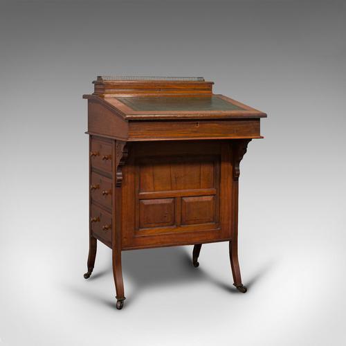 Antique Davenport, English, Walnut, Bird's Eye Maple, Writing Desk, Victorian (1 of 12)