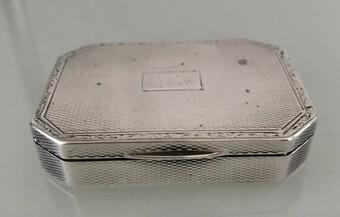 Antique Solid Silver Hallmarked Cigarette Trinket Box (1 of 3)