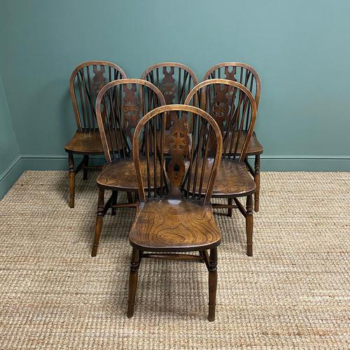 Six Country House Kitchen Elm Antique Windsor Chairs (1 of 6)