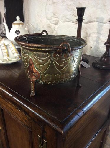 Late 17th Century or Early 18th Century Brass & Copper Cauldron (1 of 4)