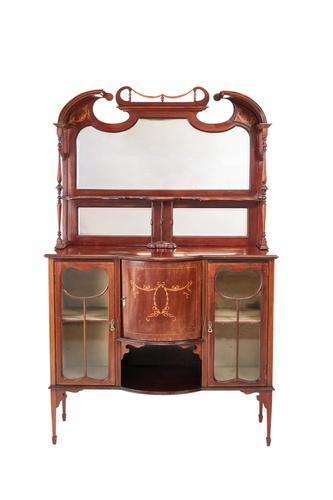 Inlaid Mahogany Antique Display Cabinet Edwardian (1 of 12)