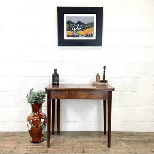 Antique Mahogany Fold Over Table (1 of 10)