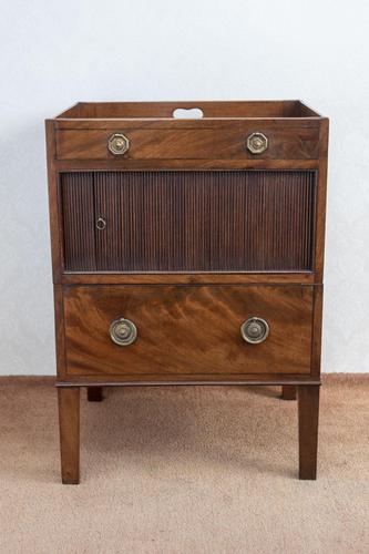Late 18th Century Mahogany Bedside Cupboard (1 of 8)