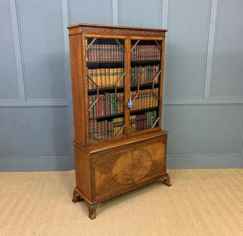 Burr Walnut Bookcase by Jas Shoolbred (1 of 19)