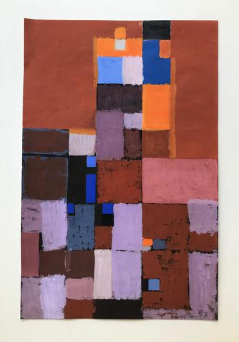 Original Mixed Media on Paper 'Rectangles' by Stan Dobbin. Initialled & Dated 57 (1 of 2)