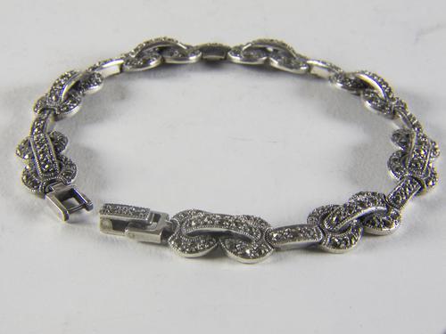 Vintage Silver Marcasite Bracelet (1 of 4)
