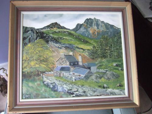 E Owen Contemporary Oil on Board of Welsh Mountainous Landscape (1 of 6)