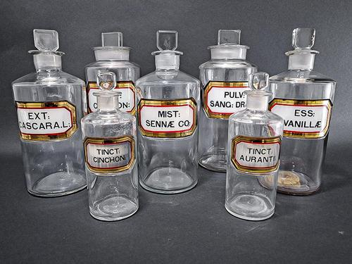Set of 9 Apothecary Jars (1 of 7)