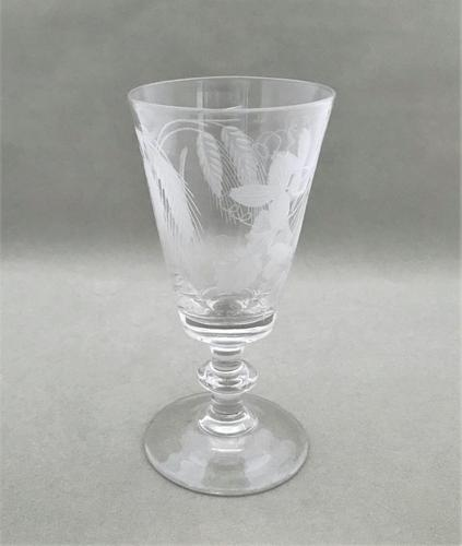 Lovely Georgian Etched Dwarf Ale Glass (1 of 5)