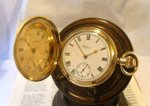 Antique Pocket Watch 1909 Waltham USA 7 Jewel 10ct Gold Filled Fwo (1 of 11)