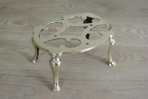 Edwardian Brass Trivet Pot Kettle Stand by Joseph Walker & Co (1 of 6)