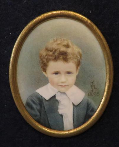 Miniature Portrait Little Boy Allan Pertwee by Mabel Jones 1895 (1 of 5)