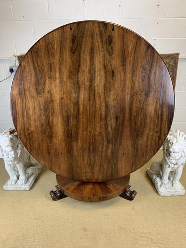 Large English Regency Rosewood Centre Table (1 of 6)