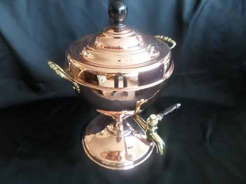 Victorian Samovar / Tea Urn in Copper with Brass Handles professionally polished recently (1 of 6)