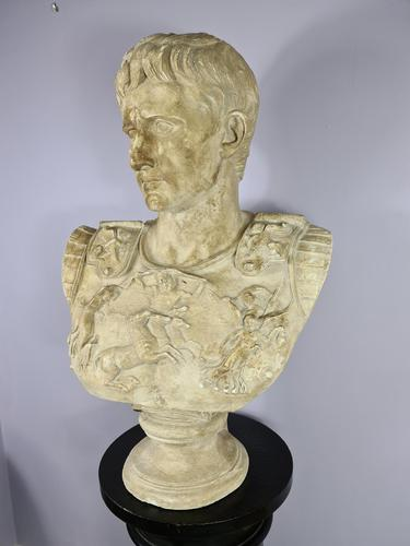 Large Plaster Bust of Augustus (1 of 7)
