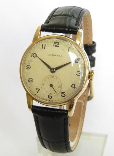 Gents 9ct Gold Garrard Wrist Watch, 1958 (1 of 5)