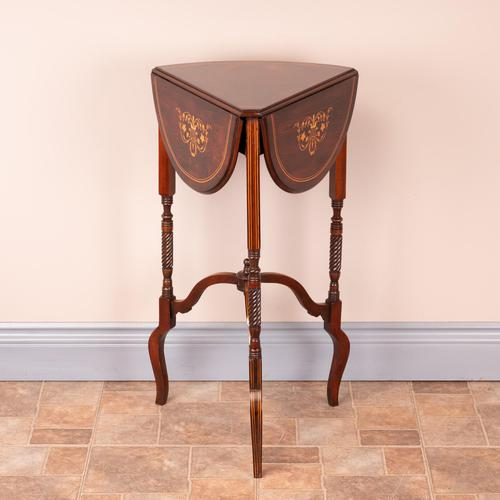 Edwardian Inlaid Rosewood Drop Leaf Occasional Table (1 of 23)