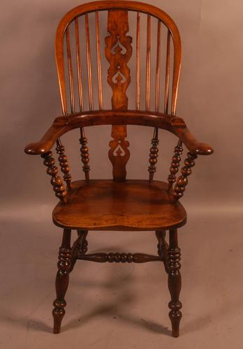 Good Victorian Broad Arm Windsor Chair (1 of 9)