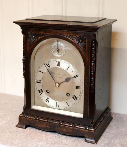 Oak Bracket Clock Supplied By Harrods (1 of 11)