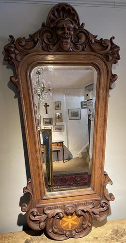 Carved Oak Mirror (1 of 7)