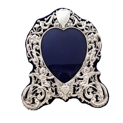 """Antique Victorian Sterling Silver 8 1/2"""" Photo Frame 1899 (1 of 9)"""