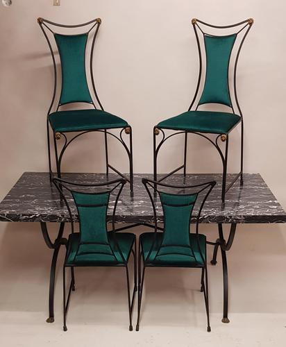 Wrought iron table and chairs. (1 of 6)