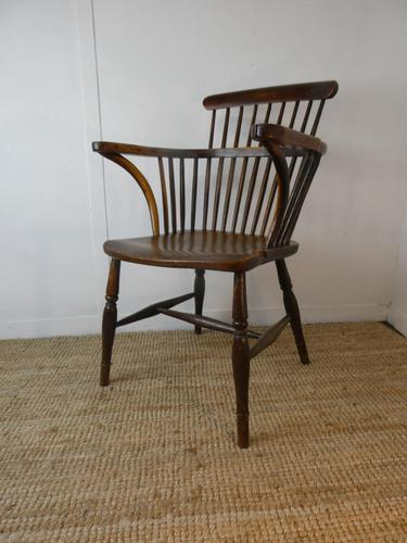 Early 19th C English Comb Back Windsor Chair (1 of 7)