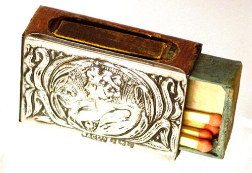 Arts & Crafts Silver Matchbox Cover - 1903 (1 of 4)