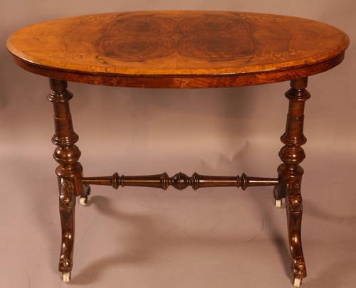 Victorian Burr Walnut Window Table (1 of 6)