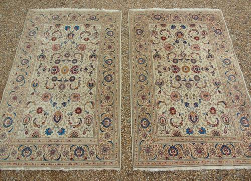Good Pair of Antique Kashan Carpets (1 of 11)