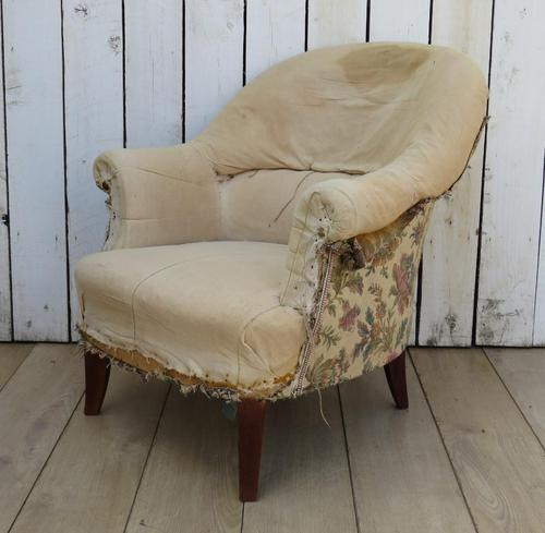 French Tub Armchair for re-upholstery (1 of 8)