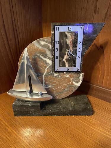 Nautical Art Deco Mantel Clock (1 of 5)