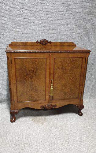 Burr Walnut Side Cabinet (1 of 7)