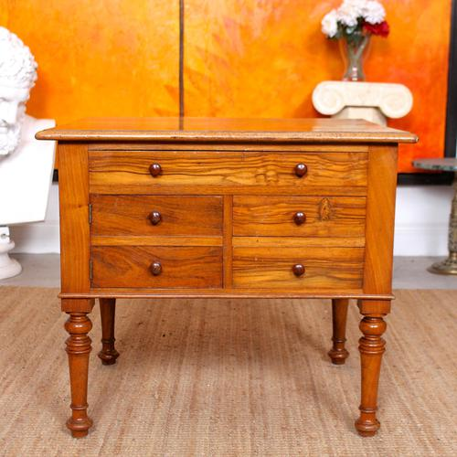 Walnut Chest of Drawers Victorian Side Cabinet 19th Century (1 of 11)