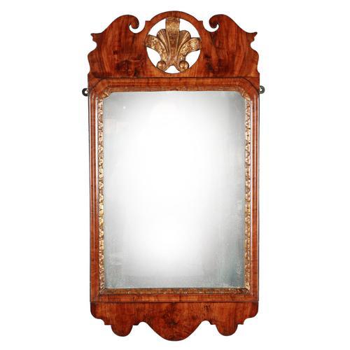 George I Walnut Framed Mirror (1 of 7)