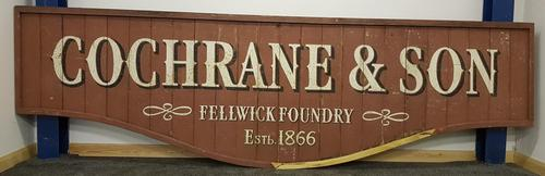 Cochrane and sons Victorian plywood sign (1 of 2)