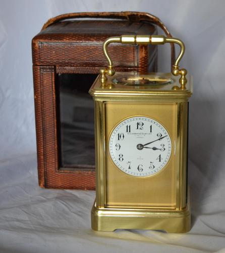 French Goldsmiths London Strike Carriage Clock & Box (1 of 6)