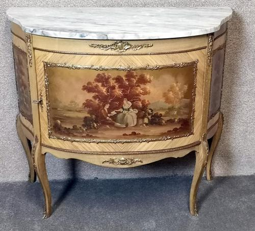 20th Century Marble Top Commode / Side Cabinet2 (1 of 11)